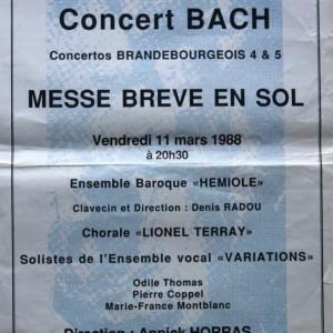 Concert Bach messe breve en sol