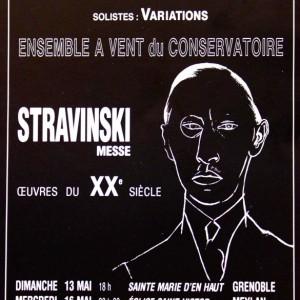 Stravinski messe Ensemble vocal de Meylan