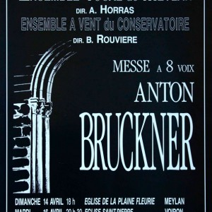 Bruckner messe a 8 voix