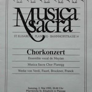 Musica sacra Chorkonzert