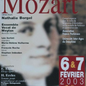 Requiem Mozart 2003 Ensemble vocal de Meylan