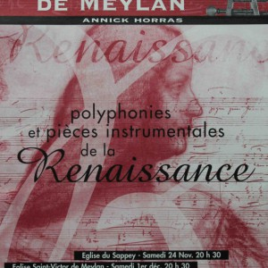 Polyphonies et pièces instrumentales de la renaissance