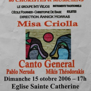 Misa Criolla Canto general