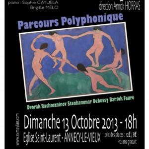 Parcours polyphonique 2013 Ensemble vocal de Meylan